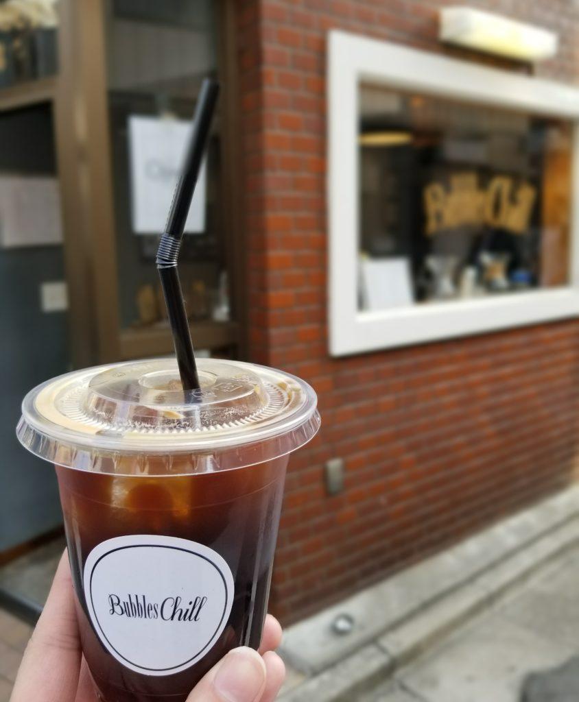 バブルズチルのロングブラックコーヒー