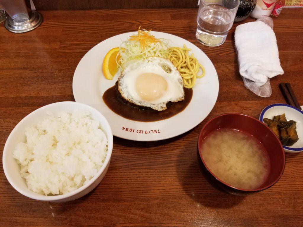 キッチンパンチのハンバーグ定食
