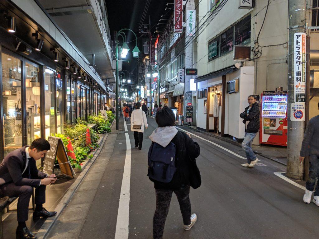 中目黒駅東口1を出た風景