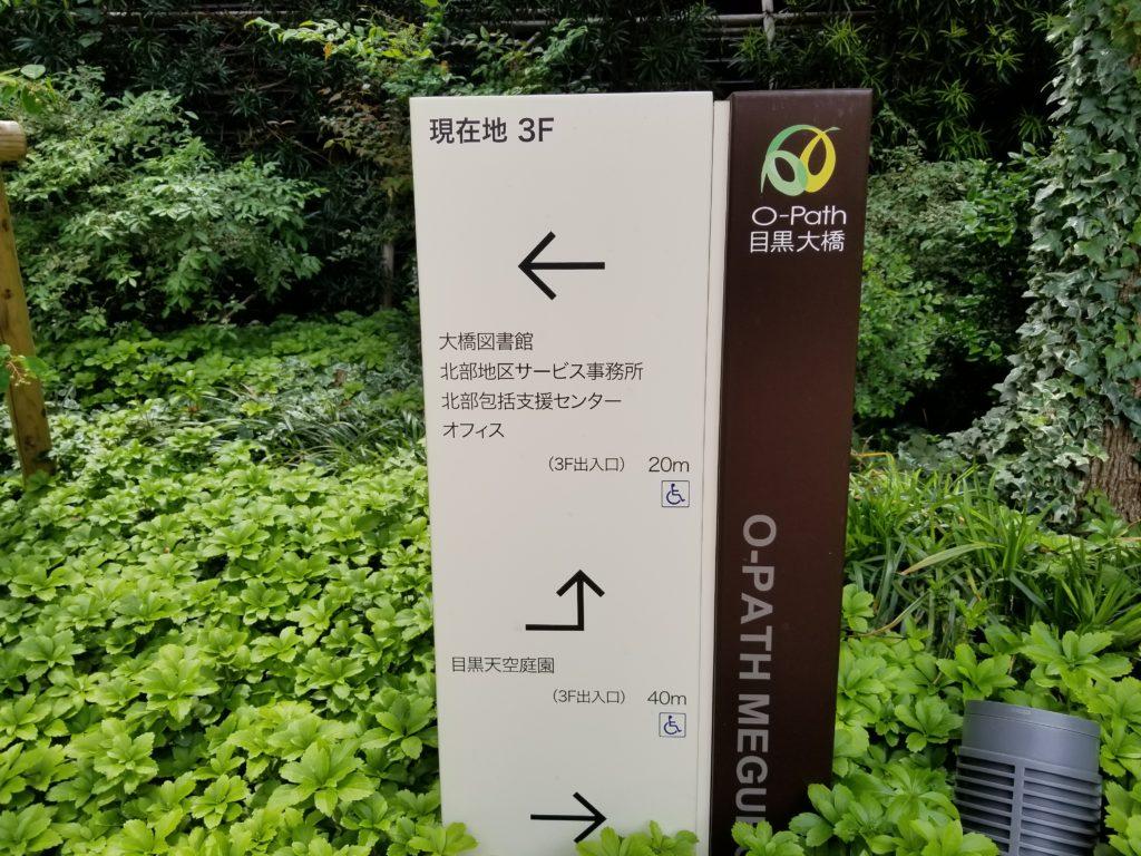 目黒天空庭園の看板