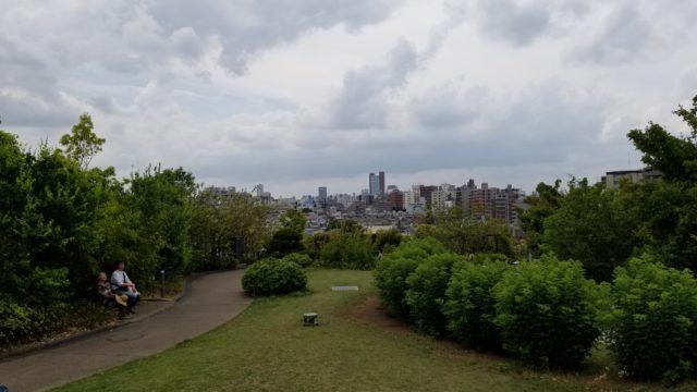 目黒天空庭園から三茶方面の空の景色