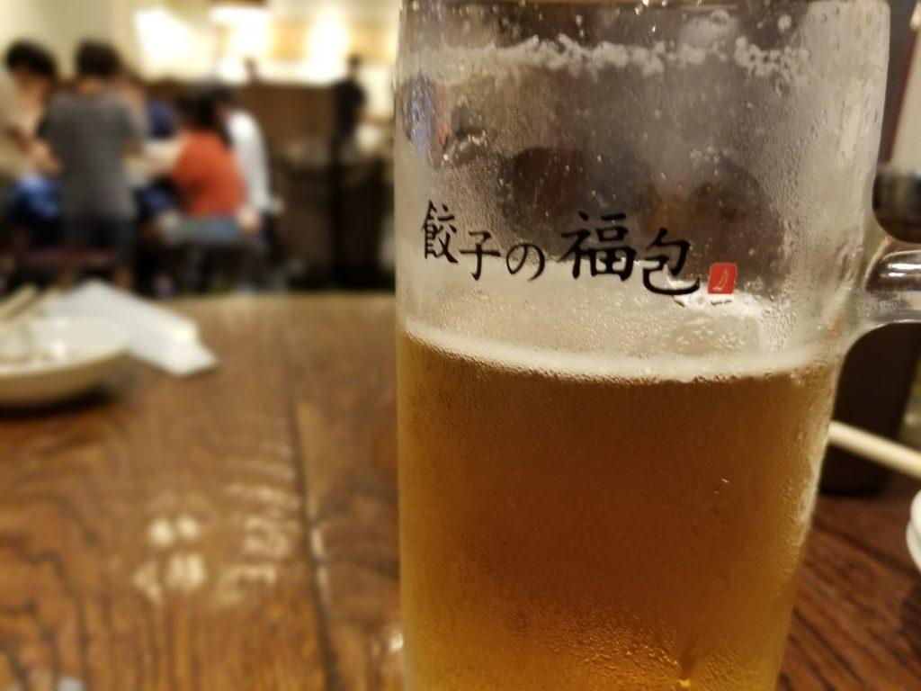 餃子の福包のビール