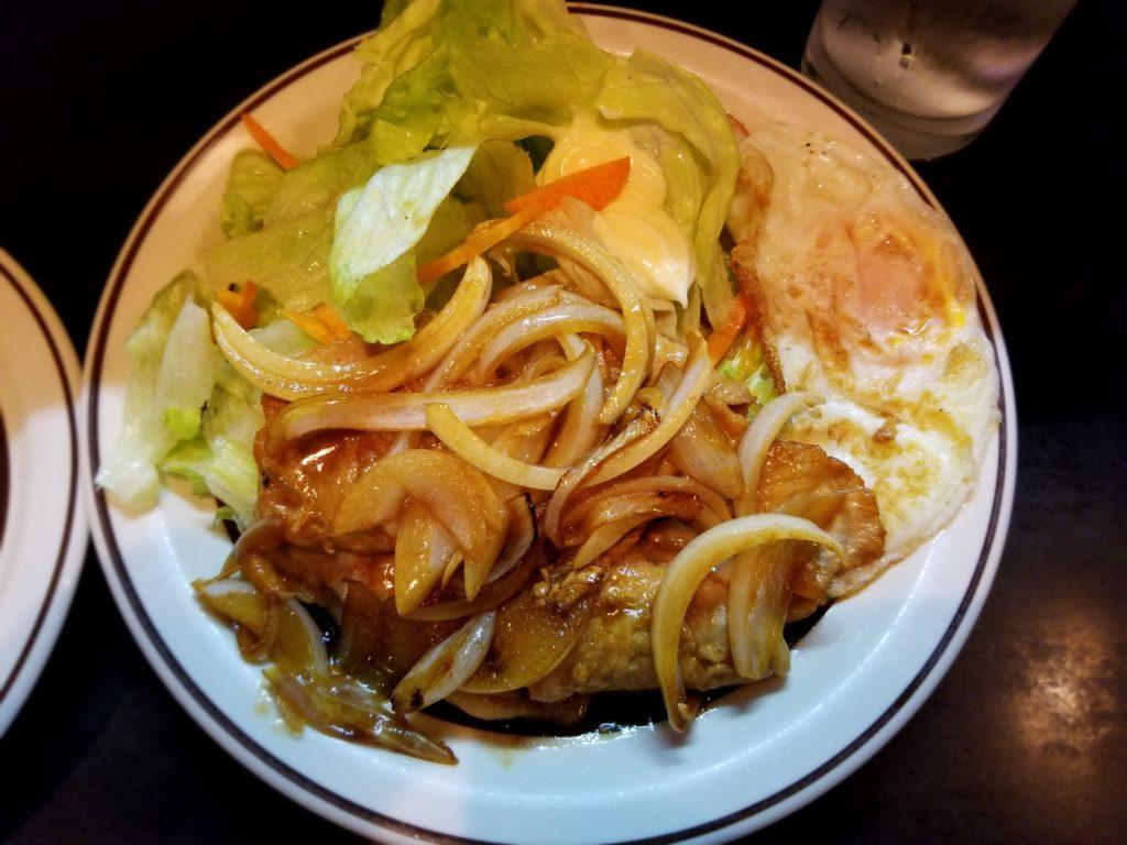 レモンハウスのしょうが焼き定食
