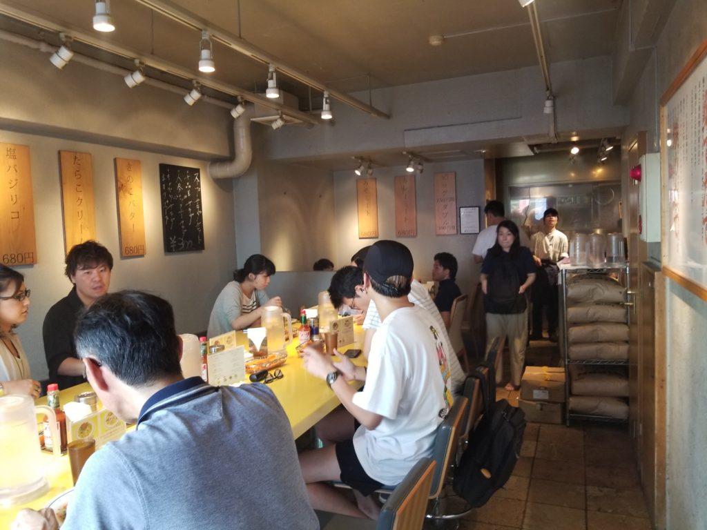 関谷スパゲティの内観