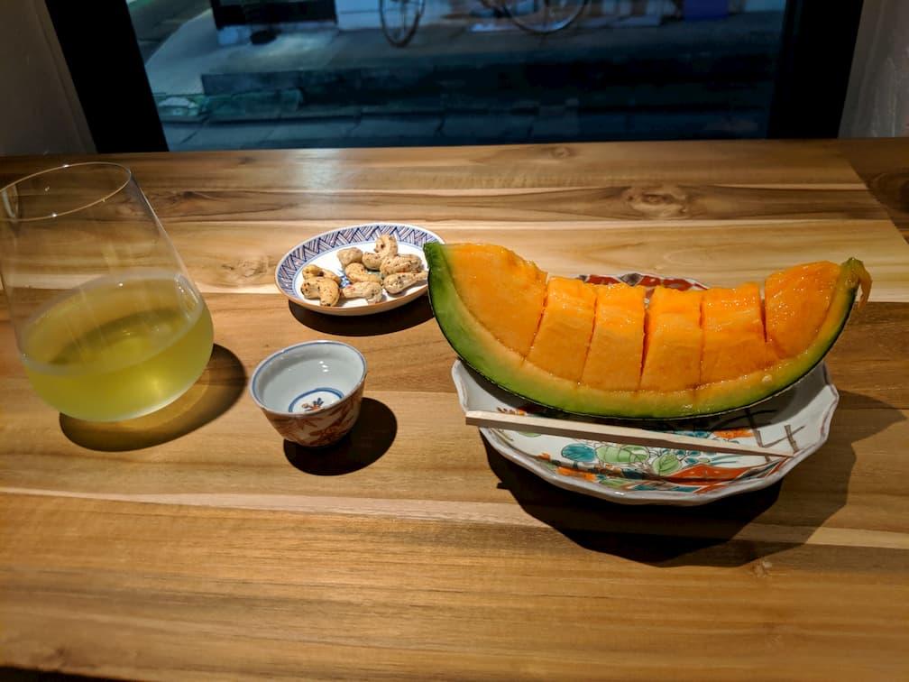 お茶とナッツとフルーツのペアリング・・・1,800円