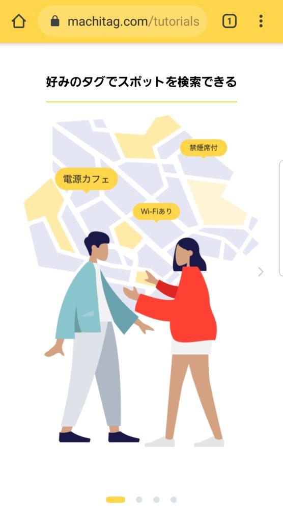 マチタグのスポット検索機能の図