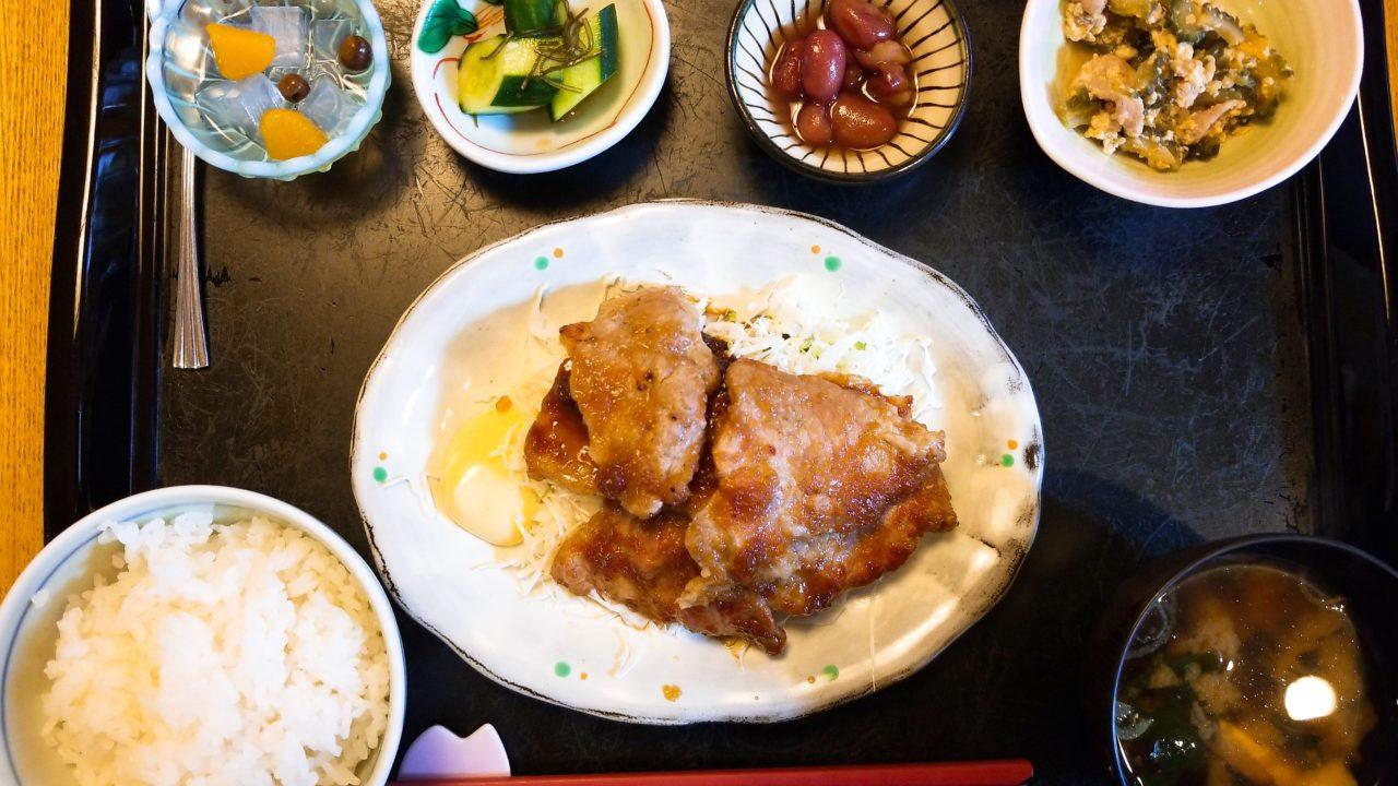 御飯屋の生姜焼き定食