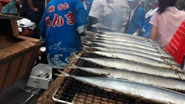 目黒のさんま祭りの風景