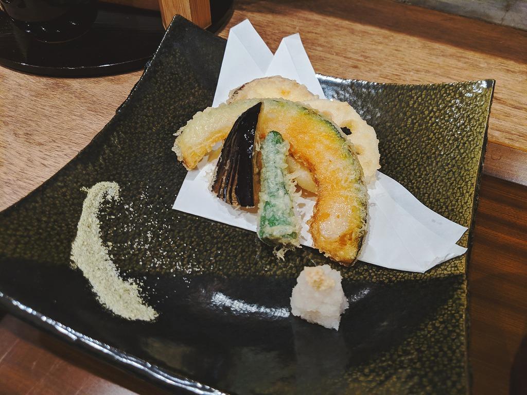 季節野菜の天ぷら