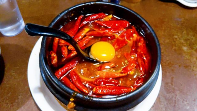 橙の地獄谷の麻婆豆腐