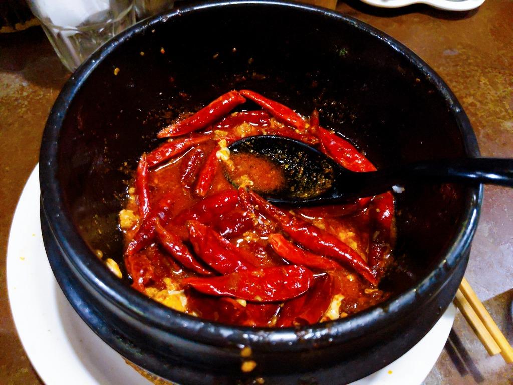 橙の地獄谷の麻婆豆腐3