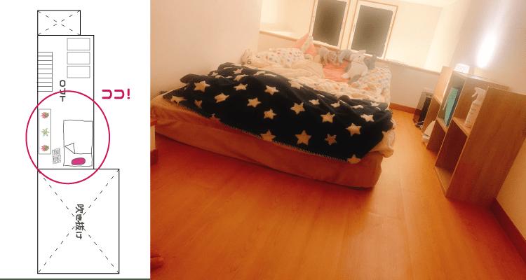 【中目黒在住OLの一人暮らし事情】_ベッド