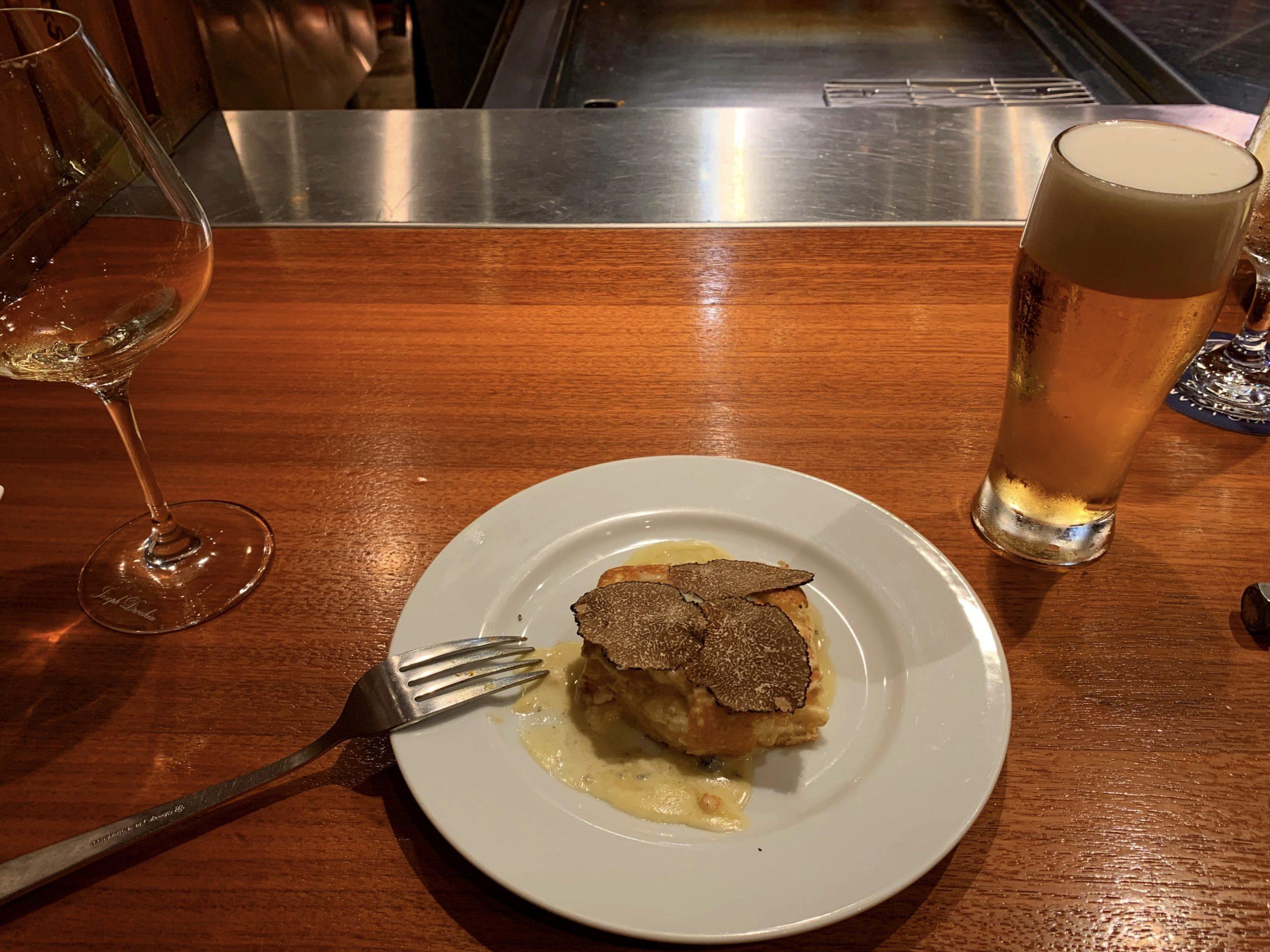 【中目黒ブロックス】フレンチビストロ鉄板焼スフレオムレツとビール