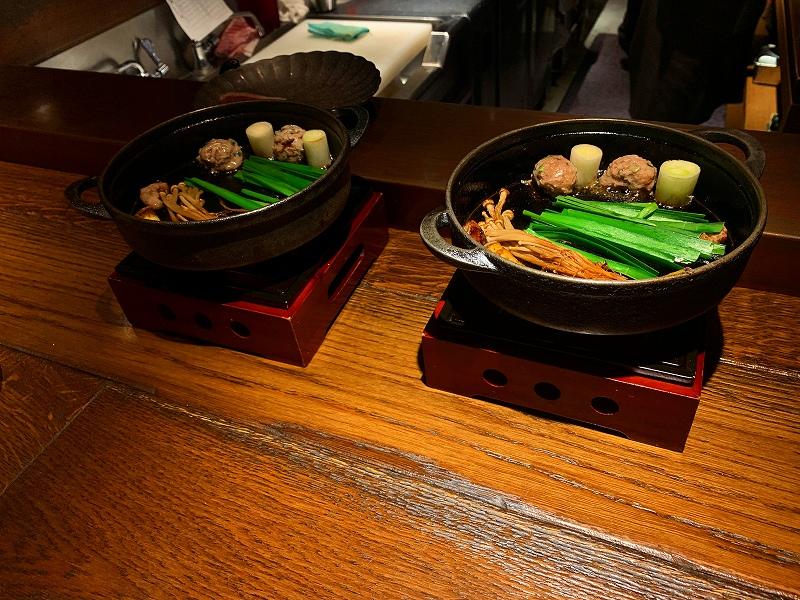 中目黒ダイエット飯ナカモグロ_鴨鍋焼き中