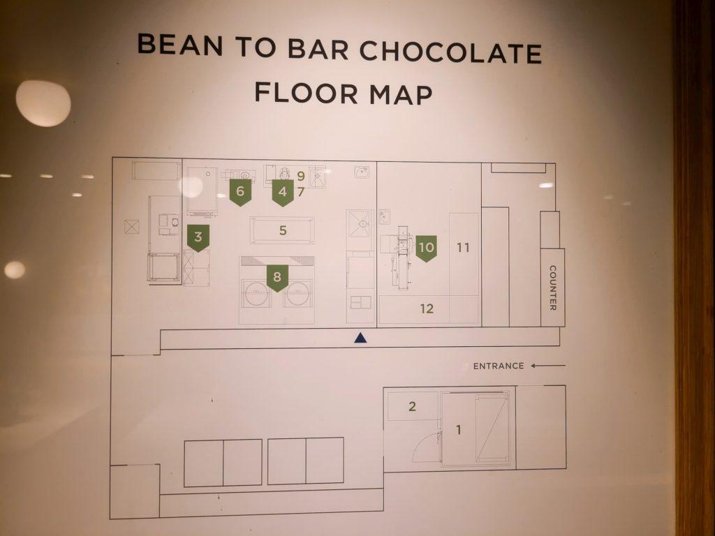 チョコレートの製造場所マップ