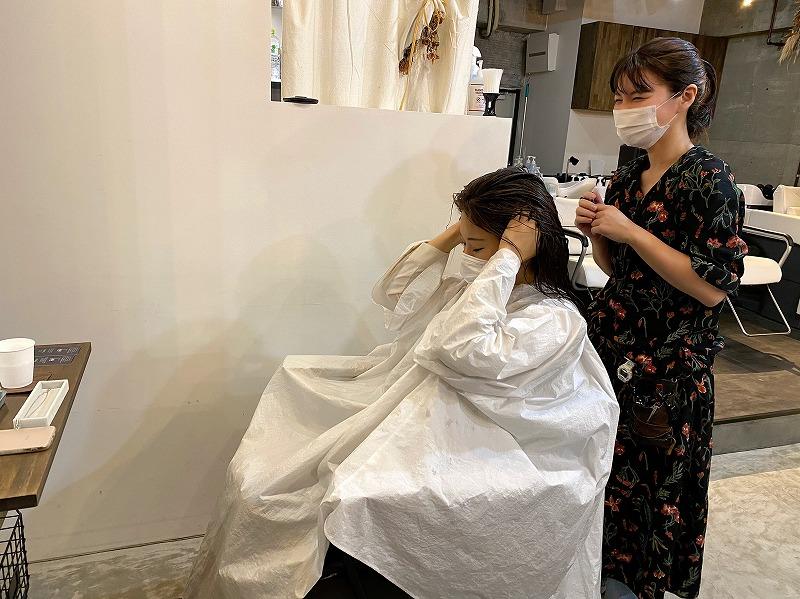 【中目黒の美容室nv7(ナンバーセブン)さん】頭皮がやわらかい、、