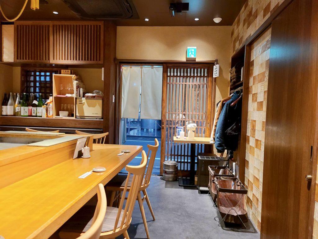 寿司の磯松の店内