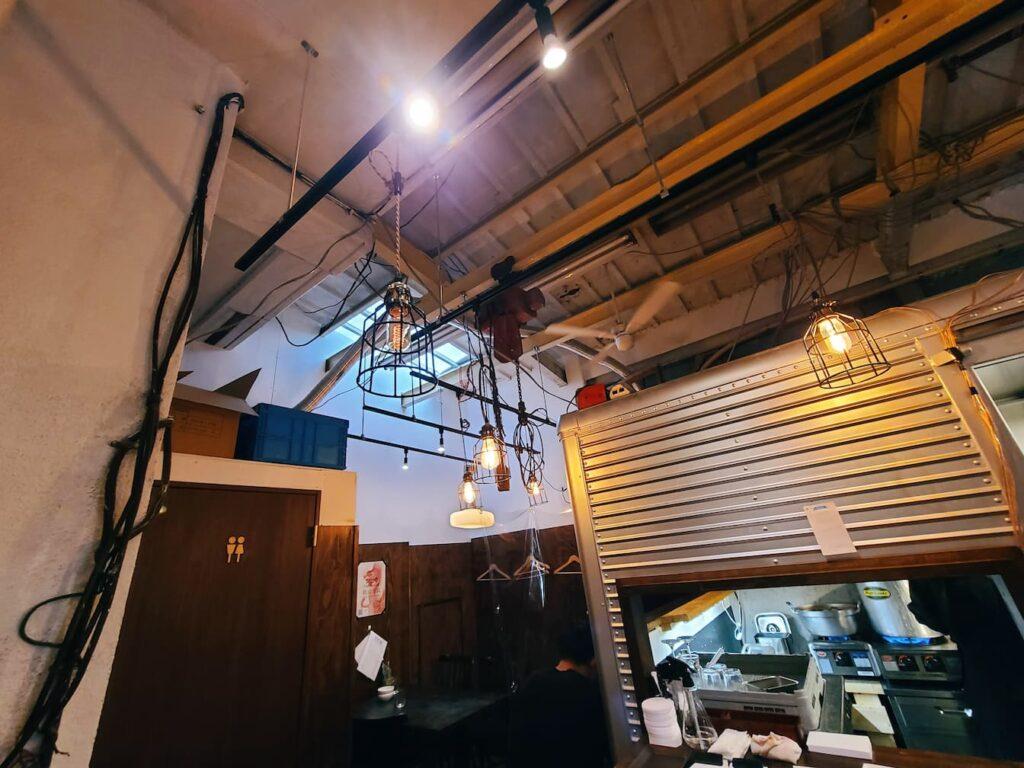 ファイブスターカフェの天井